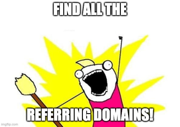 find all the referring domains